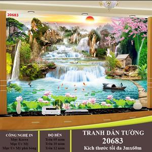 TRANH DÁN TƯƠNG PHONG THỦY THÁC NƯỚC- 20683
