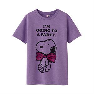 Áo phông bé gái Snoopy Uniqlo - Ngộ nghĩnh, đáng yêu- K28