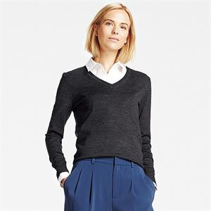 Áo len nữ  Extra Fine Merino Uniqlo - WL14