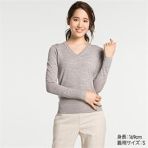 Áo len nữ  Extra Fine Merino Uniqlo  - WL11