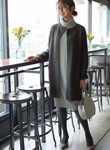 Áo choàng len nữ Uniqlo WW02