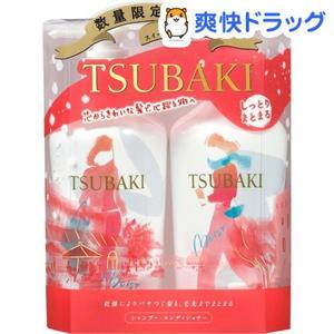 Set dầu gội Tsubaki màu đỏ - cho tóc khô và tóc thường
