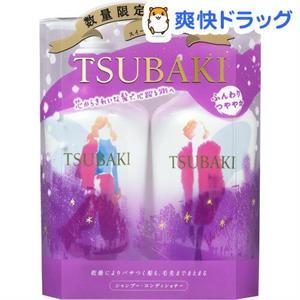Set dầu gội Tsubaki màu tím - phục hồi tóc hư tổn