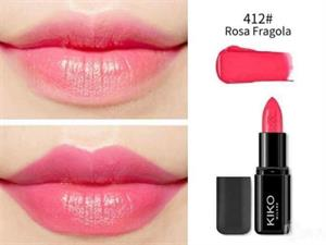 Son Kiko 412 Strawberry Pink - Dây tây