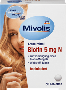 Viên uống Biotin Mivolis - Tốt cho da, tóc và móng
