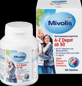 Vitamin Tổng hợp cho người trên 50 tuổi Mivolis A-Z