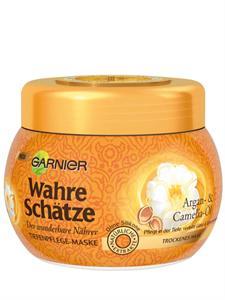 Kem Ủ Tóc Garnier Wahre Schatze Argan- & Camelia-Ol - chăm sóc từ gốc tới ngọn, cho tóc luôn suôn mềm.