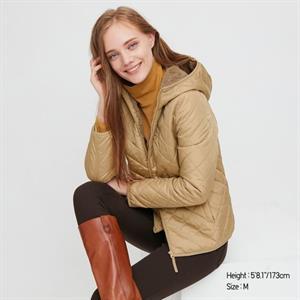 Áo khoác nữ trần trám, lót lông cừu Uniqlo Nhật - WJ63