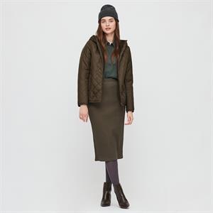Áo khoác nữ trần trám, lót lông cừu Uniqlo Nhật - WJ62