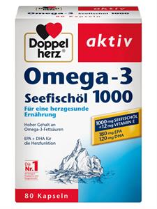 Viên uống đầu cá OMEGA-3 SEEFISCHÖL 1000 DOPPELHERZ