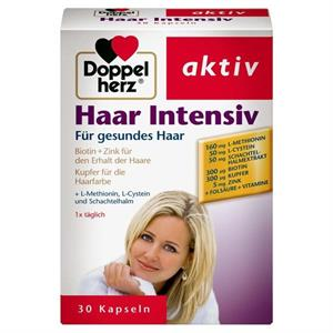 Viên uống làm khỏe và đẹp tóc Doppelherz Haar Intensive và Biotin