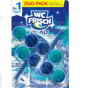 Viên treo bồn cầu đôi WC-Frisch WC Reiniger Blau Kraft Aktiv Ozeanfrische