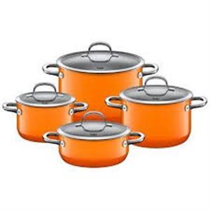 Bộ nồi Silit Topf-Set 4-teilig Passion màu cam