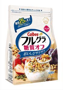 Ngũ cốc Calbee gói trắng 600gr - vị hạnh nhân, dâu, nho, bí ngô