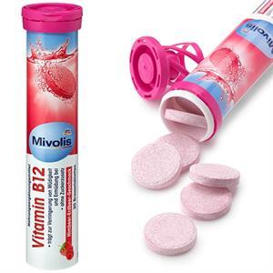 Viên sủi Mivolis Vitamin B12 - bổ sung B12