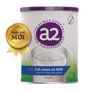 Sữa bột nguyên kem A2 Úc dạng lon 850gr