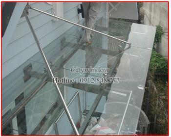 Mái kính - mái sảnh kính mẫu 26