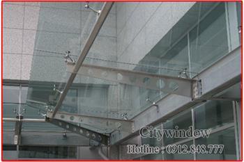 Mái kính - mái sảnh kính mẫu 05