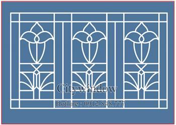 Mẫu hoa sắt cửa sổ - số 12